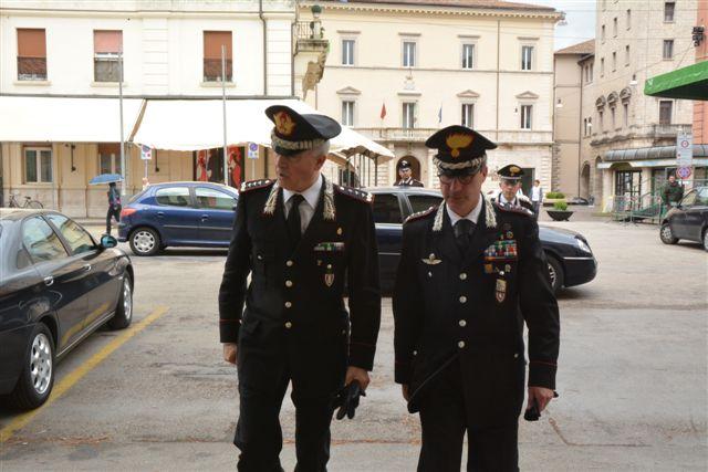 Carabinieri, a Rieti il Comandante interregionale Del Sette - Foto di Massimo Renzi