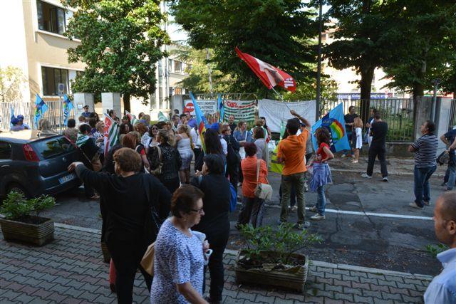 Risorse Sabine, sciopero. 9 luglio 2013. Foto di Massimo Renzi