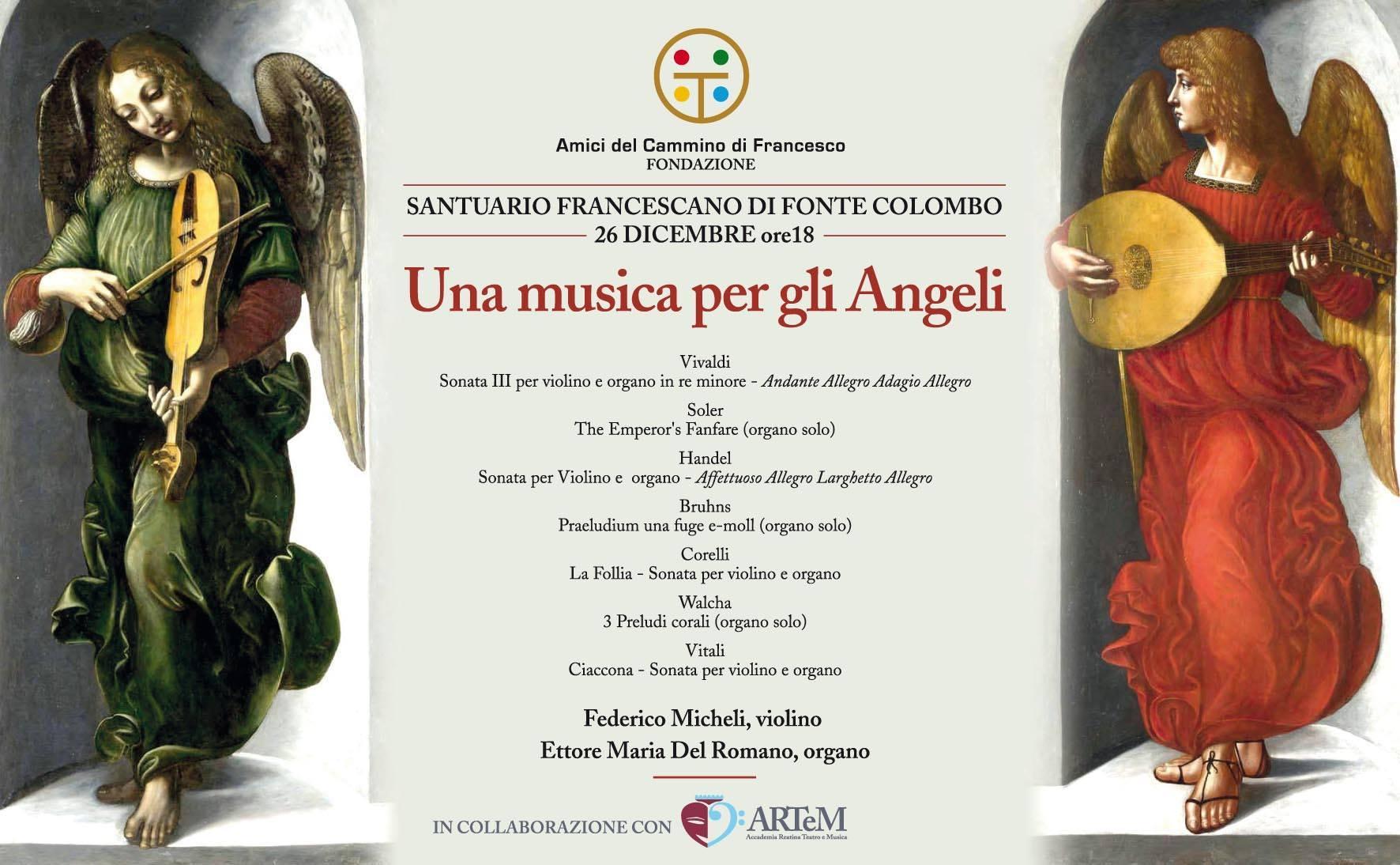A Fonte Colombo il Concerto di Natale della Fondazione degli Amici del Cammino di Francesco