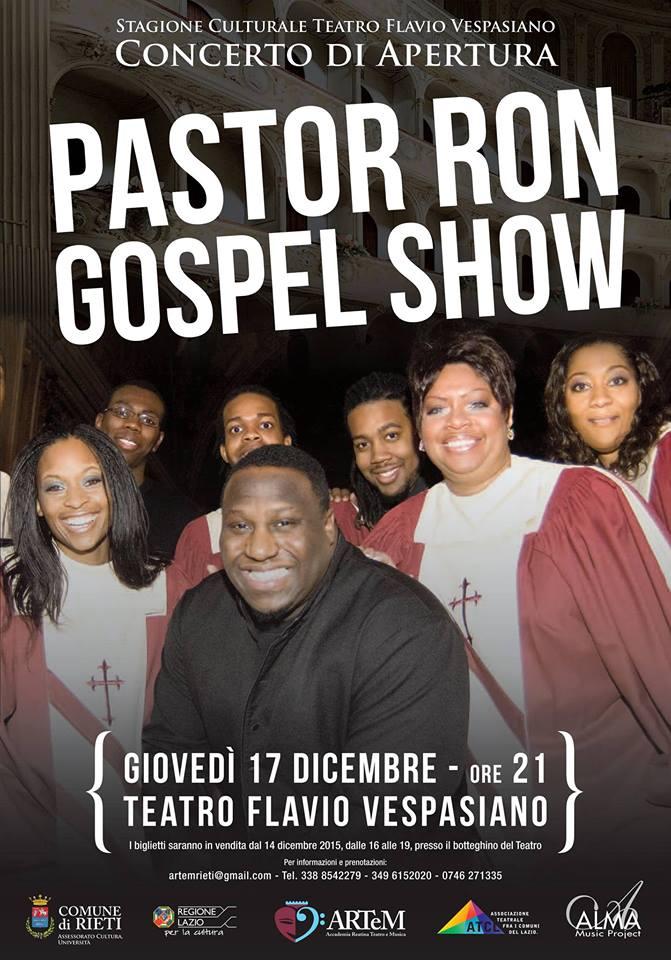 Al Teatro Vespasiano l'eccentrico Pastor Ron