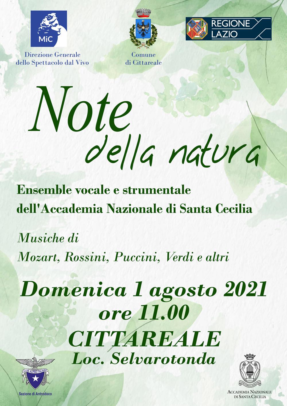 Note della natura: in alta quota con l'Accademia Nazionale di Santa Cecilia
